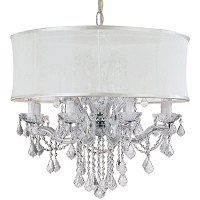Brentwood 12-Light Smooth Shade Chrome Chandelier | Crystorama