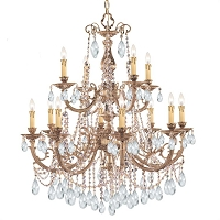 Etta 12-Light Clear Swarovski Strass Crystal Chandelier I | Crystorama