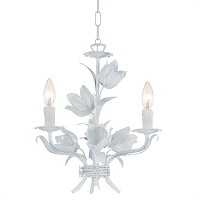 Southport 3-Light Wet White Mini Chandelier | Crystorama