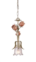 Southport 1-Light Sage Rose Pendant | Crystorama