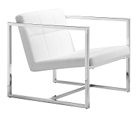 Carbon Occasional Chair in White | Zuo