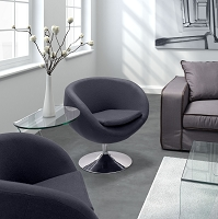 Zuo Modern Lund Occasional Chair Gray
