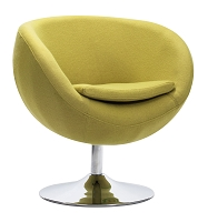 Lund Occasional Chair in Pistachio Green | Zuo