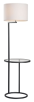 Swift Floor Lamp in White and Black | Zuo