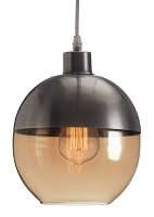 Trente Ceiling Lamp in Satin and Amber | Zuo