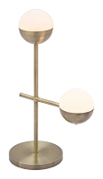 Zuo Modern Waterloo Table Lamp White Brushed Bronze