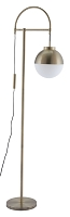 Waterloo Floor Lamp in White and Brushed Brass | Zuo
