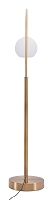 Griffith Floor Lamp in Brushed Brass | Zuo