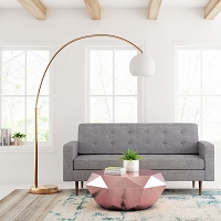 Zuo Modern Griffith Floor Lamp Brushed Brass