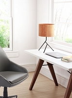 Zuo Modern Sutton Table Lamp Brown Black