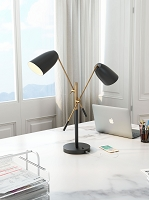Zuo Modern Tanner Table Lamp Matte Black Brass