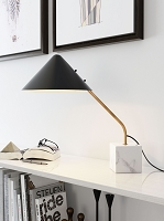 Zuo Modern Pike Table Lamp Black White