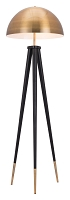 Mascot Floor Lamp in Brass and Black | Zuo