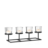Nero Tealight Holder Rectangle | Blomus