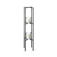 Nero Freestanding Sculpture Candle Holder 2 Tier | Blomus