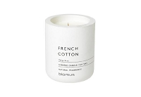 Fraga Lily White Candle French Cotton Scent | Blomus