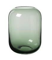 Ovalo Vase Clear Green 8 x 6 | Blomus