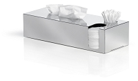 Nexio Tissue Box Dispenser Cotton Buds Pads Polished | Blomus