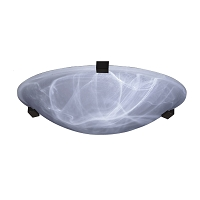 PLC Lighting Nuova 2 Light Ceiling Marbleized White