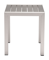 Cosmopolitan Side Table in Brushed Aluminum | Zuo