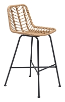 Malaga Bar Chair in Natural | Zuo