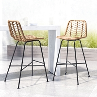 Zuo Modern Malaga Bar Chair Natural
