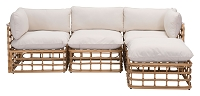 Zuo Modern Kapalua Middle Chair Beige Natural