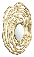 Aqua Round Mirror in Gold | Zuo
