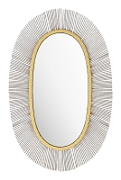 Juju Oval Mirror in Black and Gold | Zuo