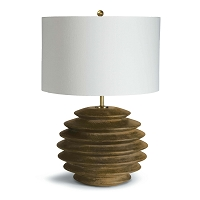 Accordion Table Lamp Round Natural | Regina Andrew