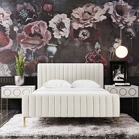 Tov Furniture Angela Cream Bed in King