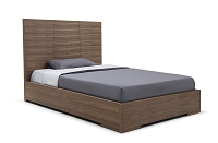 Anna Bed Full Natural Walnut Veneer | Whiteline