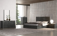 Anna Bed King High Gloss Grey | Whiteline