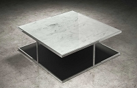 Adagio Coffee Table White Marble | B-Modern