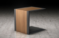 Minuet Nesting Table Walnut with Grey | B-Modern