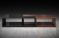 Vocalist Coffee Table Rosewood + Black | B-Modern