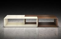 Vocalist Coffee Table Walnut + Almond | B-Modern