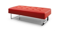 Miami Bench Red Chrome Frame | Whiteline