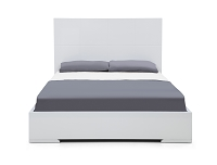 Anna Bed Queen High Gloss White | Whiteline