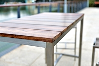 Stone Outdoor Bar Table | Whiteline