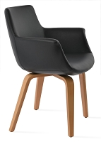 Bottega Plywood Armchair Leather  | Soho Concept