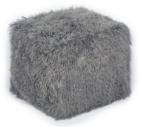 Tov Tibetan Sheep Grey Pouf