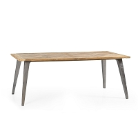 California Recycled Mosaic Teak Dining Table | Padma's Plantation