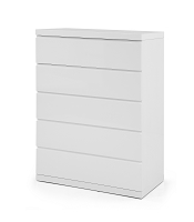 Anna Chest 5 Drawers High Gloss White | Whiteline