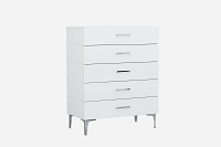 Diva Chest 5 Drawers High Gloss White | Whiteline