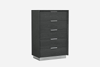 Navi Chest 5 Drawers High Gloss Grey | Whiteline