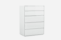 Malibu Chest 5 Drawers High Gloss White | Whiteline