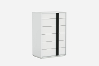 Kimberly Chest 6 Drawers High Gloss White | Whiteline