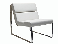Angel Chair Grey Chrome Frame | Whiteline