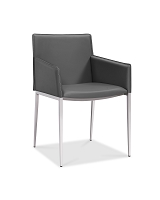 Daphne Dining Armchair Grey | Whiteline